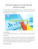 Kế toán tài chính là gì và công việc của kế toán tài chính?
