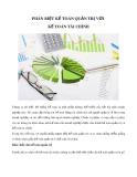 Phân biệt kế toán quản trị với kế toán tài chính