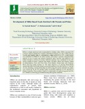 Development of millet based foods enriched with peanuts and pulses