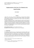 Implementation of the stress test methods in the retail portfolio
