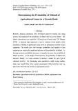 Determining the probability of default of agricultural loans in a French bank