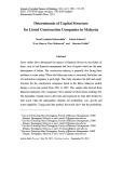 Determinants of capital structure for listed construction companies in Malaysia