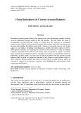 Global imbalances in current account balances