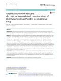 Agrobacterium-mediated and electroporation-mediated transformation of Chlamydomonas reinhardtii: A comparative study