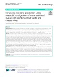 Enhancing methane production using anaerobic co-digestion of waste activated sludge with combined fruit waste and cheese whey