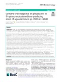 Genome-wide response on phytosterol in 9-hydroxyandrostenedione-producing strain of Mycobacterium sp. VKM Ac-1817D