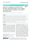 Heavy ion mutagenesis combined with triclosan screening provides a new strategy for improving the arachidonic acid yield in Mortierella alpina