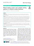 Mixed mating system and variable mating patterns in tropical woody bamboos