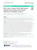 Nitric oxide- induced AtAO3 differentially regulates plant defense and drought tolerance in Arabidopsis thaliana