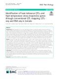 Identification of heat-tolerance QTLs and high-temperature stress-responsive genes through conventional QTL mapping, QTLseq and RNA-seq in tomato