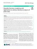 Quantile function modeling with application to salinity tolerance analysis of plant data