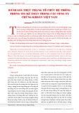 Đánh giá thực trạng tổ chức hệ thống thông tin kế toán trong các công ty chứng khoán Việt Nam
