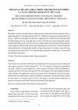 Mối quan hệ giữa phát triển thị trường bảo hiểm và tăng trưởng kinh tế ở Việt Nam