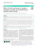 Effects of shell sand burial on seedling emergence, growth and stoichiometry of Periploca sepium Bunge