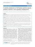In planta production of ELPylated spidroin-based proteins results in non-cytotoxic biopolymers