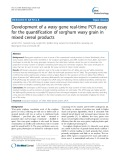 Development of a waxy gene real-time PCR assay for the quantification of sorghum waxy grain in mixed cereal products