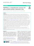 PlaPPISite: A comprehensive resource for plant protein-protein interaction sites