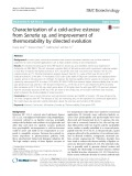 Characterization of a cold-active esterase from Serratia sp. and improvement of thermostability by directed evolution