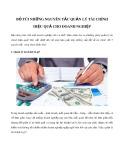 Bỏ túi những nguyên tắc quản lý tài chính hiệu quả cho doanh nghiệp