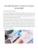 Khái niệm, bản chất và vai trò của tài chính doanh nghiệp