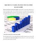 Mục đích và ý nghĩa của phân tích tài chính doanh nghiệp