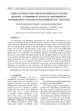 User's satisfaction with information system quality: An empirical study on the hospital information systems in Hochiminh city, Vietnam