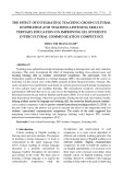 The effect of integrating teaching cross-cultural knowledge and teaching listening skill in tertiary education on improving EFL students' intercultural communication competence
