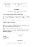 Quyết định 110/2020/QĐ-UBND tỉnh CaoBằng