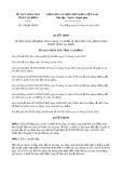 Quyết định 218/2020/QĐ-UBND tỉnh CaoBằng