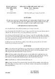 Quyết định 438/2020/QĐ-UBND tỉnh ThừaThiênHuế