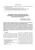 Đánh giá khả năng lún mặt đất do khai thác nước ngầm khu vực Tây Nam Hà Nội theo tài liệu quan trắc tại các trạm đo lún