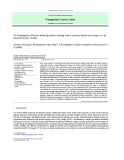An investigation of factors affecting patients waiting time in primary health care centers: An assessment study in Dubai