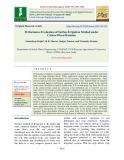 Performance evaluation of surface irrigation method under cotton-wheat rotation