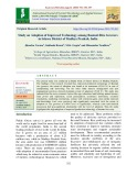 Study on adoption of improved technology among basmati rice Growers in sehore District of Madhya Pradesh, India