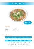 Giá trị dinh dưỡng trong các món ăn từ phở