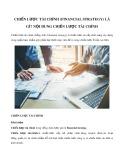 Chiến lược tài chính (Financial strategy) là gì? Nội dung chiến lược tài chính