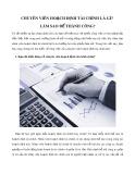 Chuyên viên hoạch định tài chính là gì? Làm sao để thành công?