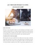 Quy trình lập kế hoạch tài chính cho doanh nghiệp