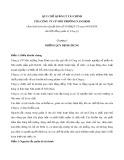 Quy chế quản lý tài chính - Công ty Cổ phần Môi trường Nam Định