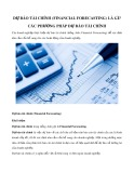 Dự báo tài chính (Financial Forecasting) là gì? Các phương pháp dự báo tài chính