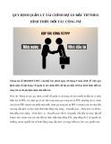Quy định quản lý tài chính dự án đầu tư theo hình thức đối tác công tư
