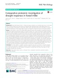 Comparative proteomic investigation of drought responses in foxtail millet