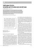 Triển vọng từ EVFTA và những gợi ý về chính sách cho Việt Nam