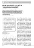 Một số giải pháp khắc phục bất cập trong công tác định giá đất