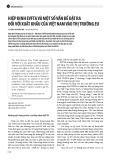 Hiệp định EVFTA và một số vấn đề đặt ra đối với xuất khẩu của Việt Nam vào thị trường EU