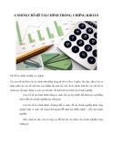 6 nhóm chỉ số tài chính trong chứng khoán