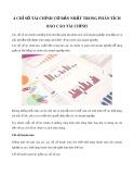 4 chỉ số tài chính cơ bản nhất trong phân tích báo cáo tài chính