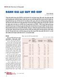 Đánh giá lại quy mô GDP