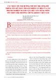 Các nhân tố ảnh hưởng tới mức độ công bố thông tin kế toán trách nhiệm xã hội của các doanh nghiệp ngành vật liệu xây dựng niêm yết trên thị trường chứng khoán Việt Nam