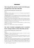 Thực trạng tiêu thụ rượu bia và một số yếu tố liên quan của người dân ở tỉnh Thừa Thiên Huế